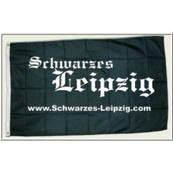Schwarzes Leipzig Flagge