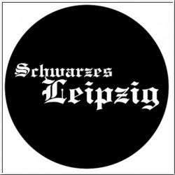 Schwarzes Leipzig Button