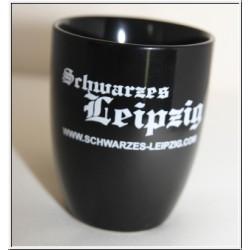 Schwarzes Leipzig Tasse